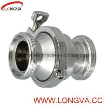 Válvula de retención de tornillo 316L higiénica