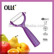 Becautiful Color Handle Ceramic Peeler for Potato