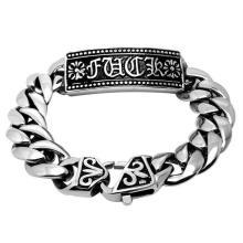 Bracelets gothiques classiques d'identification de bijoux de style de punk de style anti-allergie