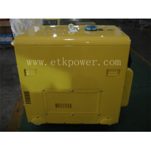 6kw Silent Diesel Engine with Yellow Colour