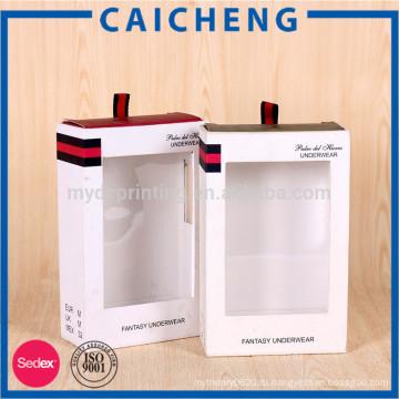 Роскошные одежды одежд упаковывая коробка с шелковой лентой