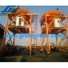 hydraulic port dedusted Mobile Hopper