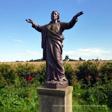 Grande, bronze jesus cristo, estátua, em, meditação
