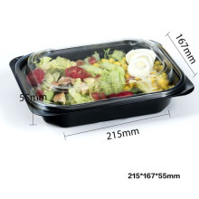 Pet Clear Plastic Compartment Take Away Salad Food Container Tray 13