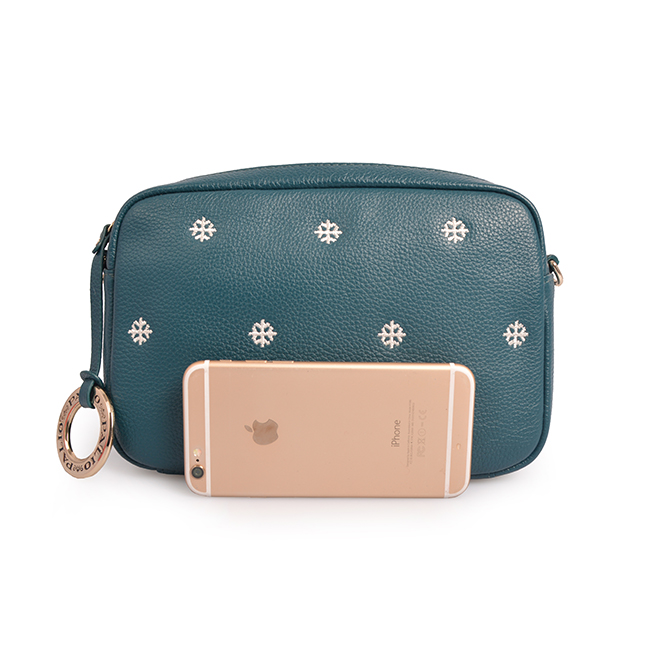 leather casual woman embroidery crossbody bags