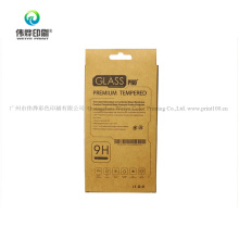 Custom Promotion Fashion Kraft Paper Mobile Phone Glass Screen Protector Printing Packaging Box
