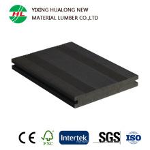 Decking de haute qualité de WPC pour le composite en plastique en bois extérieur (HLM166)
