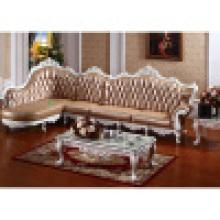 Sofá de couro de madeira da mobília chinesa Facotry (YF-D806)