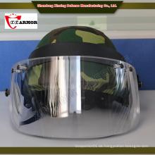 XX ISO 9001 PE Faser Olivgrüner ballistischer Helm mit Maske