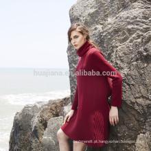Vestido de camisola 100% cachemira da mulher design 100% feminino