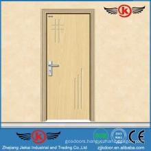 JK-P9008 JieKai modern pvc wooden door / pvc bathroom plastic door / PVC Profile for Windows and Doors
