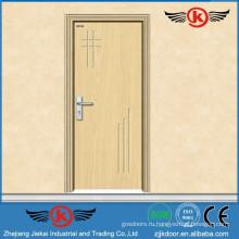 JK-P9008 JieKai современная деревянная дверь из ПВХ / пвх пластиковая дверь / профиль ПВХ для окон и дверей