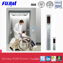 3.0m/S Residential Elevator Stretcher Lift with Hairline Stainless Steel