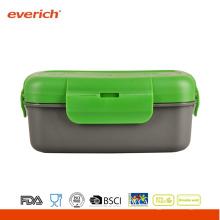 Venta al por mayor BPA libre de plástico contenedor de alimentos redonda Bento Box