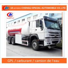 Caminhão de Bobtail do LPG 12ton do caminhão da estrada do distribuidor do LPG 25cbm para a venda