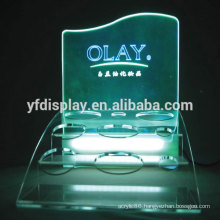 Acrylic display holder for cosmetic products