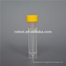 Consommables de laboratoire 1,5 ml tubes cryogéniques à fond plat