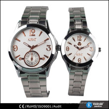 stainless steel band couple lover wrist watch