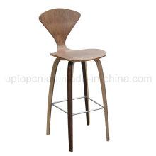 Античный деревянный Цвет четыре ноги согнуты фанеры барный стул (СП-BC462)