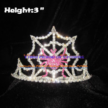 3inch Crystal Spider Halloween Crowns