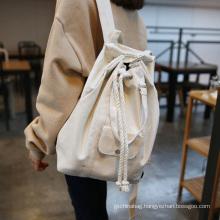 Custom printed large capacity multi-function plain canvas drawstring backpack