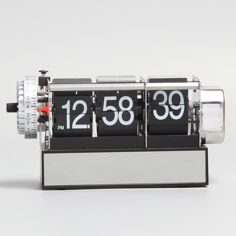 Table flip clock with alarm function