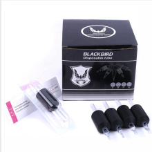 Wholesale 25mm Black Disposable Tattoo Grip with Clear Tube