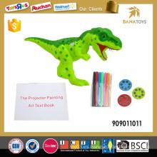 Proyector del juguete del dinosaurio del juego del niño inteligente 2in1