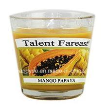 Bougie parfumée à la mangue et à la papaye en verre