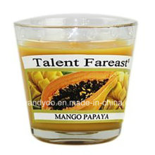 Mango Papaya Soy Scented Candle in Glass