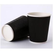 Copa de café caliente de la pared doble promocional, taza acanalada de la taza de encargo al por mayor