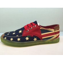 Unisex Casual Shoes Lace up Printed Leisure Shoe