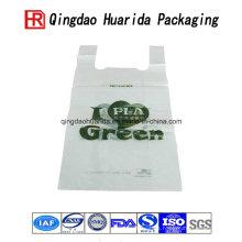 Bolso de empaquetado plástico de las compras impresas aduana para el supermercado