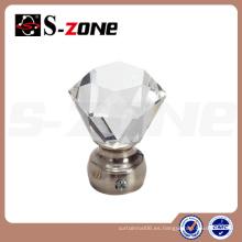 Cristal de diamante de cristal de cobre de la barra de cortina finial para China de suministro