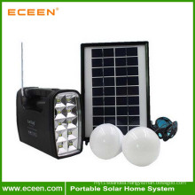 Indoor/Outdoor low price China potable solar energy saving generator with small solar panel and lamp