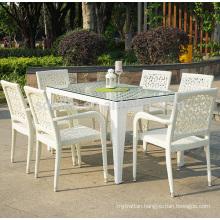 DS-(424) rattan indoor furniture modern rattan indoor dining table
