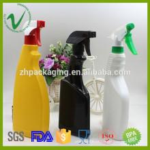 HDPE de alta qualidade personalizado vazio de garrafa de plástico 500ml líquido para venda