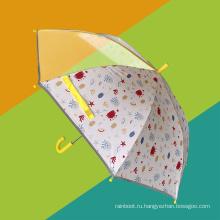 Светоотражающий безопасный защищенный от рук дизайн мультяшный детский зонт