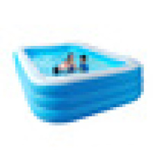 Best Selling Household Adults Children Three Layers Rectangular Printing Inflatable PVC Swimming Pool above ground pool for sale