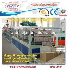 máquina de extrusión de plástico de madera del panel de puerta del wpc