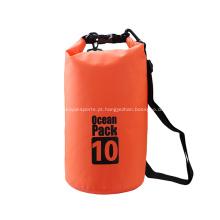 10L Waterproof o saco seco transparente durável do PVC 500D