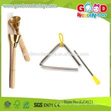 China de madeira tradicional Hand Bell Copper Bells Educational Musical Toys