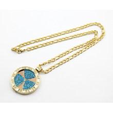Ожерелье из высококачественной позолоты из нержавеющей стали с плавающей точкой