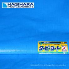 Durable # 2000, # 2500, # 3000 tipo de rolo de lona PE. Fabricado pela Hagihara Industries. Feito no Japão (tecido de lona azul)