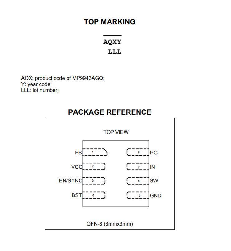 MP9943AGQ-P packing