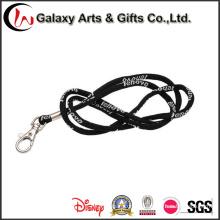 Jacquard preto personalizado redondo talabarte de corda