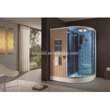 K-705one person portable steam sauna room wet steam shower room with dry sauna