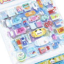 Autocollant de dessin animé de mousse de bricolage d'enfants jouets puzzle personnel papier autocollants de vinyle d'enfant de mastic