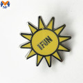 Relatiegeschenk Metal Sun Enamel Pin Badge