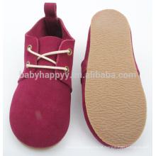 Red Kids toddler shoes sapatos de couro para bebês